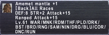 Amemet Mantle +1