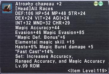 Atrophy Chapeau +2