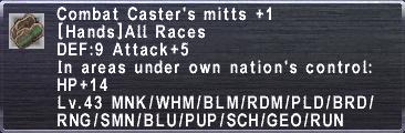 Combat Caster's Mitts+1