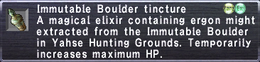 Immutable Boulder tincture