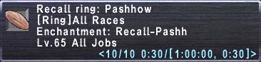 Recall ring pashow