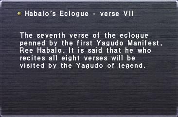 Habalo's Eclogue - verse VII