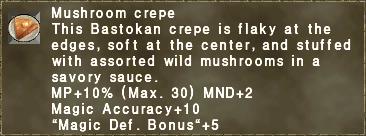 Mushroom crepe