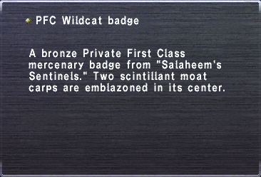 PFC Wildcat badge