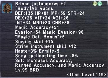 Brioso Justaucorps +2