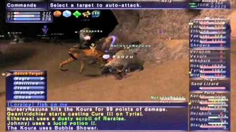 FFXI NM Saga 375 Tangaroa (Voidwatch NM) Full Battle
