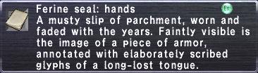 Ferine Seal Hands