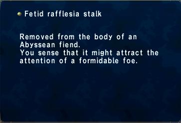 Fetid Rafflesia Stalk
