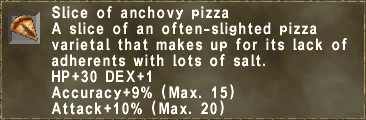 Slice of anchovy pizza