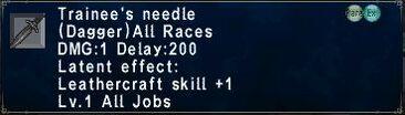 Trainee\'s needle