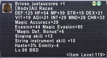 Brioso Justaucorps +1