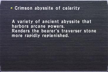 Crimson abyssite of celerity