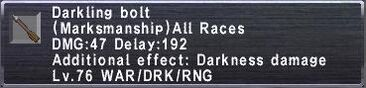 Darkling bolt