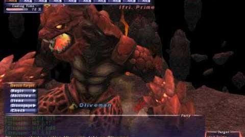 Oliveman - Ifrit - Naked Avatar Solo - FFXI