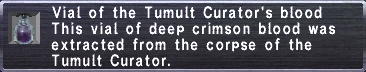 Tumult Curator's blood