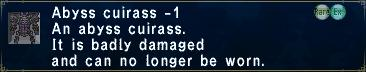 Abyss Cuirass Minus 1