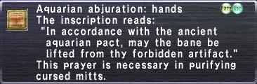 Aquarian Abjuration Hands
