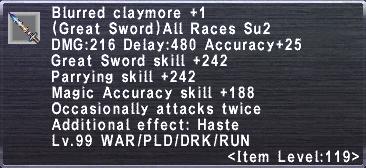 Blurred Claymore +1