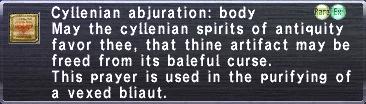 Cyllenian abjuration body