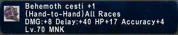 Behemoth cesti plus 1
