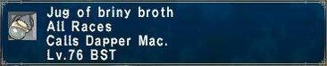 Briny broth