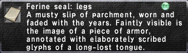 Ferine Seal Legs