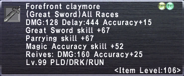 Forefront claymore