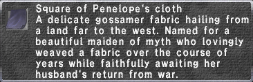 Penelope's Cloth description