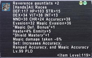 Reverence Gauntlets +2