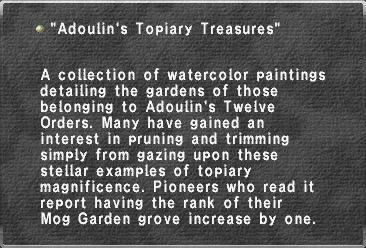 Adoulin's Topiary Treasures