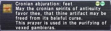 Cronian Abjuration-Feet