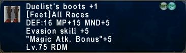 DuelistsBoots +1