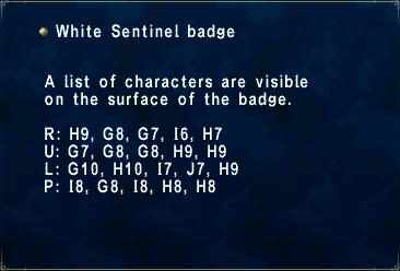 White Sentinel badge