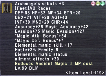 Archmage's sabots +3
