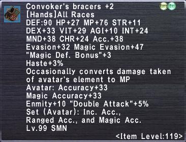 Convoker's Bracers +2