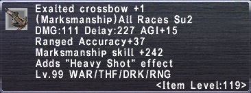 Exalted Crossbow +1