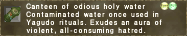 Canteen of odious holy water