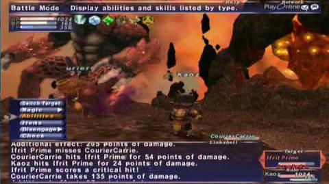 FFXI NM Saga 068 Ifrit Prime vs BST WHM solo Full Battle