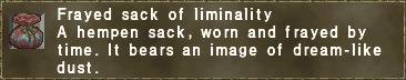 Frayed sack of liminality
