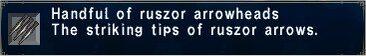 Ruszor Arrowheads