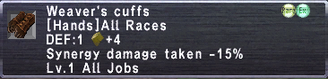 Weaver's Cuffs