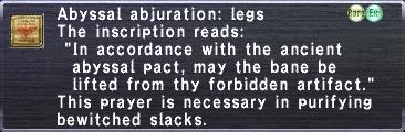 Abyssal abjuration legs