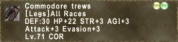 Commodore trews