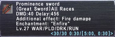 Prominence Sword