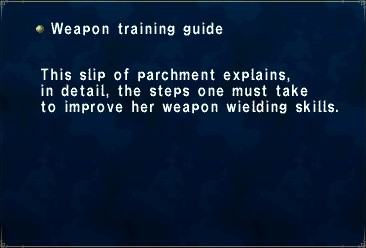 Weapon training guine