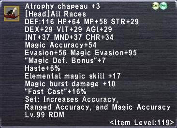 Atrophy Chapeau +3