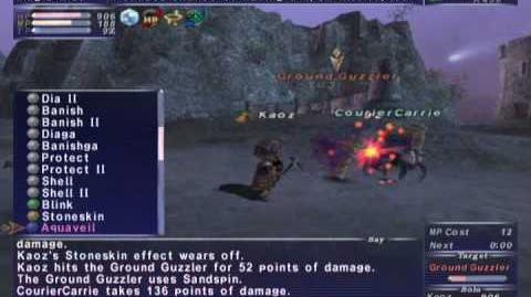FFXI NM Saga 182 Ground Guzzler VNM vs BST High lvl, Full Battle