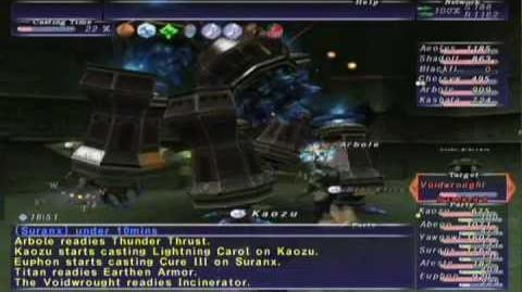 FFXI NM Saga 362 Voidwrought (Voidwatch NM) Full Battle