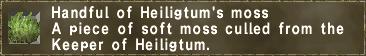 Handful of Heiligtum's moss