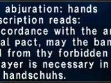 Martial Abjuration: Hands